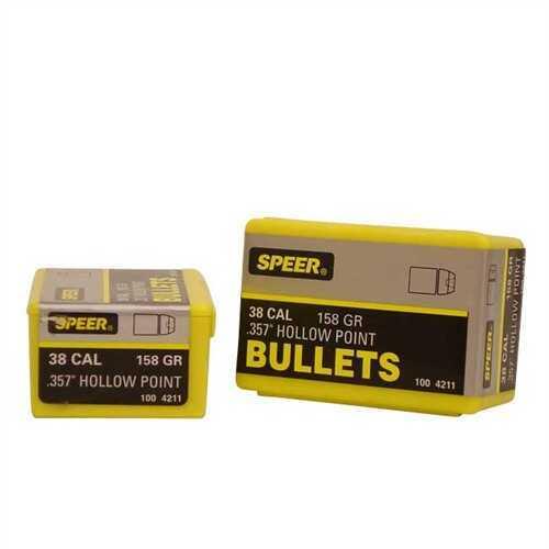 Speer 38/357 Caliber (Per 100) 158 Gr JHP 4211