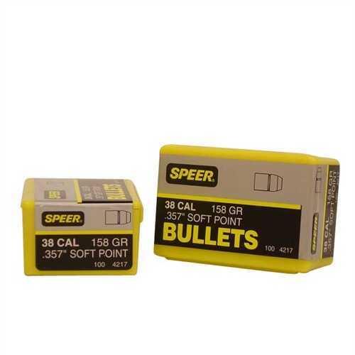 Speer 38/357 Caliber (Per 100) 158 Gr JSP 4217