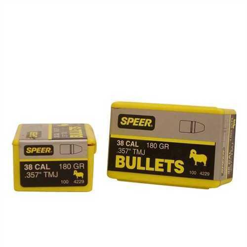 Speer 38/357 Caliber (Per 100) 180 Gr TMJ Sil 4229