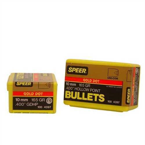 Speer 10mm (Per 100) 165 Gr GD HP 4397