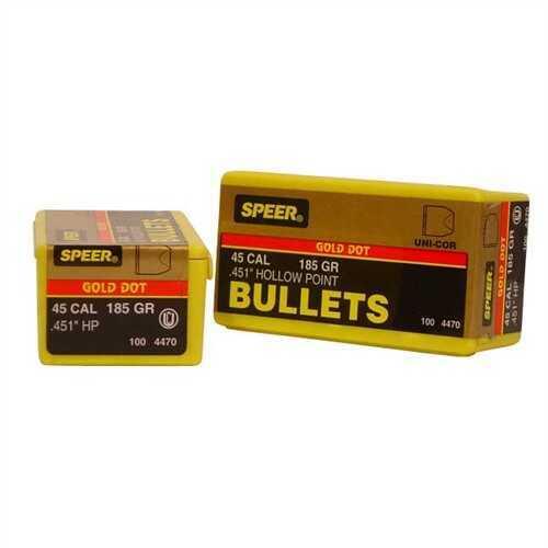 Speer 45 Caliber 185 Gr GD HP (Per 100) 4470