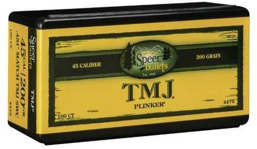 Speer 45 Caliber 200 Gr SWC TMJ Match (Per 100) 4475