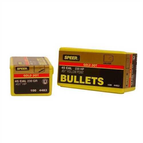 Speer 45 Caliber 230 Gr GD HP (Per 50) 4483