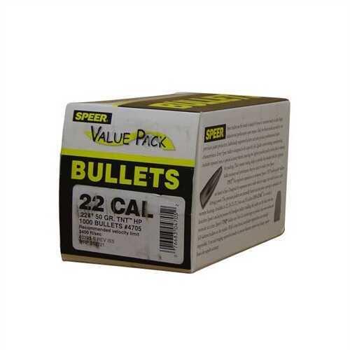 Speer 22 Caliber (.224) 50 Gr TNT HP Value Pack/1000 4705