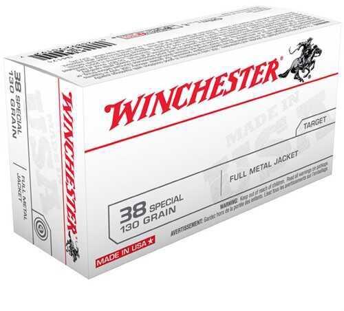 Winchester 38 Special 130 Grain FMJ (Per 50) Q4171