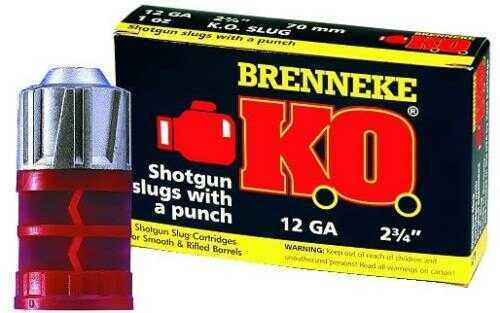 Brenneke USA Ammunition K.O. 12 Gauge 2 3/4In 1Oz Slug (5 rounds Per Box) Ammunition