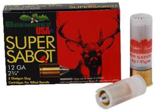 Brenneke USA Ammo Super Sabot 12Ga.2 3/4In 1 1/8oz. Slug (5 rounds Per Box)