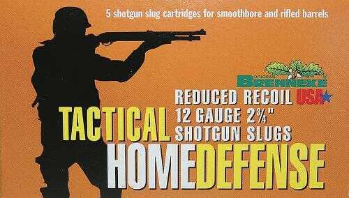 Brenneke USA Ammo Home Def.12Ga.2 3/4In 1Oz (5 rounds Per Box) Ammo