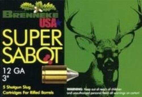 Brenneke USA Ammo SuPerSabot 12Ga. 3In 1 1/8Oz.Slug (5 rounds Per Box) Ammo