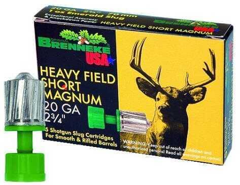 Brenneke USA Ammo K.O. 20Ga. 2 3/4In 7/8 Oz. Slug (5 rounds Per Box) Ammo
