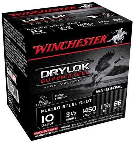 Winchester Drylok SuPer Steel HV 10Ga 3.5'' 1-3/8Oz #BB 25/Bx (25 rounds Per Box)