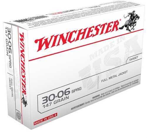 Winchester 30-06 Springfield 30-06 Springfield, 147grain, USA Full Metal Jacket, (Per 20) USA3006