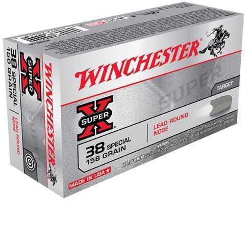 Winchester 38 Special 38 Special, 158gr, Super-X Lead Round Nose, (Per 50) X38S1P