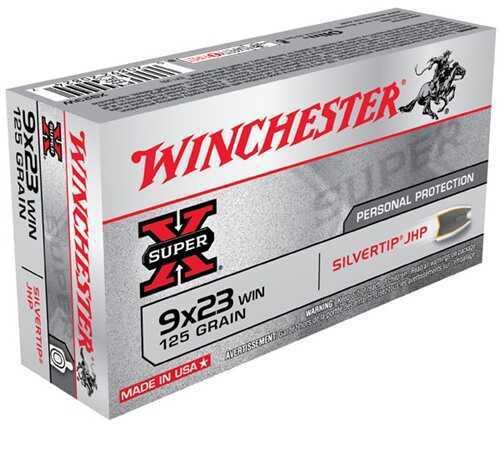 Winchester 9x23 Winchester 9x23 Win, 125gr, Super-X Silvertip Hollow Point (Per 50) X923W