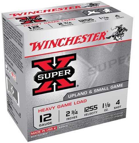 "Winchester 12 Gauge 12 Gauge, 2 3/4"" 1 1/8oz 4 Shot, (Per 25) XU12H4"