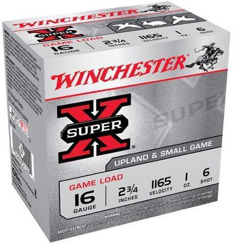 "Winchester 16 Gauge 16 Gauge, 2 3/4"", 1oz 6 Shot, (Per 25) XU166"