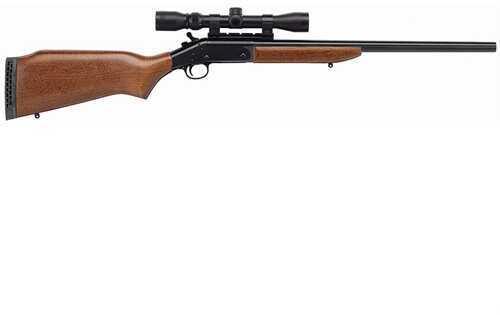 "NEF / H&R Handi-Rifle 22"" Blued Barrel 243 Winchester Natural American Hardwood Stock72524"