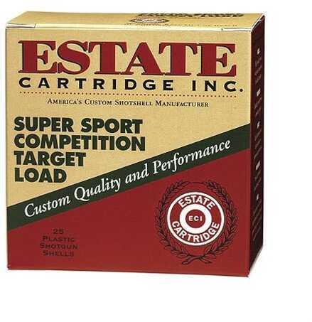 Federal Cartridge Estate Super Sport Target 12 Gauge 2.75 Inch 1 Ounce #8 Shot Shotshells, 25 Per Box
