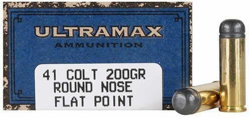 Ultramax 41 Long Colt 200 Grain Round Nose Flat Point Ammunition, 50 Rounds Per Box