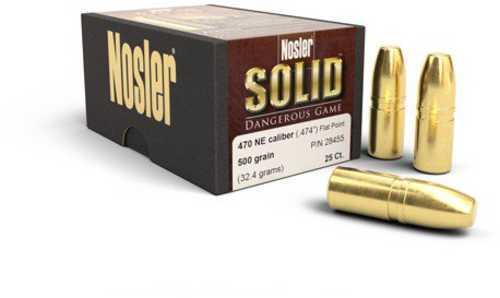 Nosler 475 Caliber 500 grain Flat Point (Per 25) 3 28455
