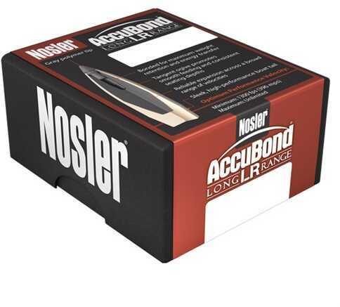 Nosler AccuBond Long Range Spitzer Point 30 Caliber 210 Grain Boat Tail Component Bullets, 100 Per Box