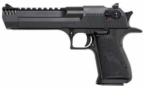 "Magnum Research Desert Eagle 357 Magnum With Muzzle Brake Black Oxide Finish 6"" Barrel Semi-Auto Pistol DE357IMB"
