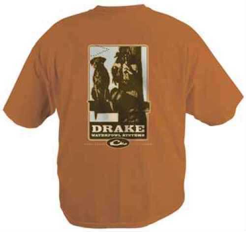 Drake Waterfowl Drake T-Shirt Logo Harley On Burnt Orange Long Sleeve DW190X2BURNS