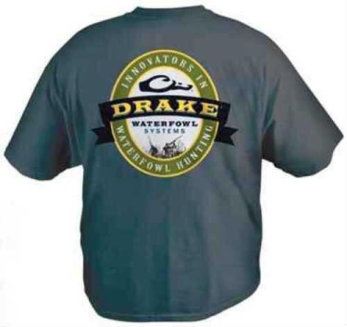 Drake Waterfowl Drake T-Shirt Logo Gunner Navy Short Sleeve Size M DW222XNAVM