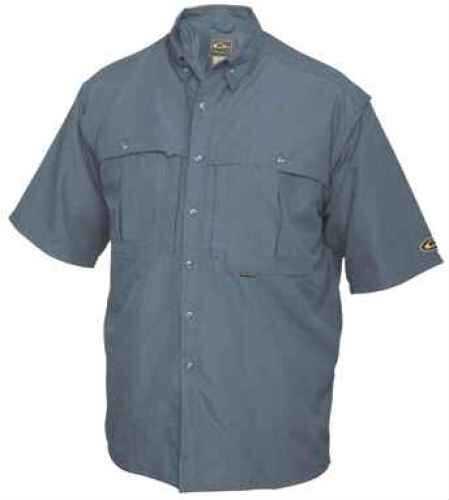 Drake Waterfowl Drake Casual Shirt Steel Blue Short Sleeve Size XL DW260SBLXL