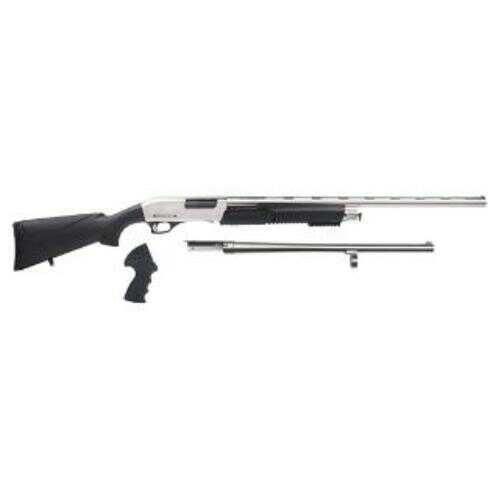 Rock Island Armory Meriva 3-1 Pump Shotgun 12 Gauge 8 Round Black Synthetic  Stock Nickel Finnish