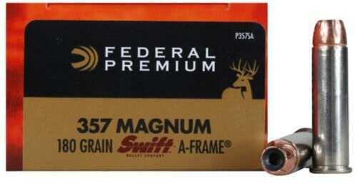 Federal Cartridge 357mag 180 Grains Swift A-frame Vital Shok Ammunition P357SA