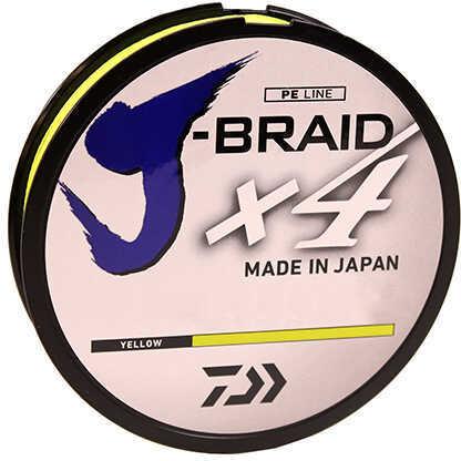 "Daiwa J-Braid Braided Line 300 Yards , 10 lbs, .007"" Diameter, Fluorescent Yellow"