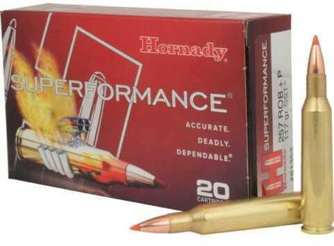 Hornady 257 Roberts Superformance +P 117 Grains SST (Per 20) 81353