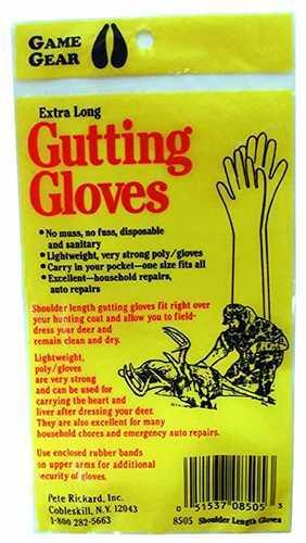 Pete Rickard Gutting Gloves Pair Shoulder Length 8505