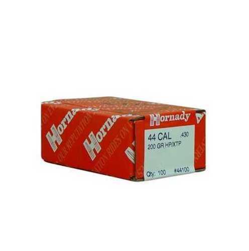 Hornady 44 Caliber Bullets 200 Grains HP/XTP (Per 100) 44100