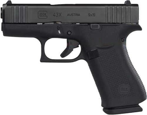"GLOCK 43X Pistol 9mm Luger 10 Round 3.41"" Barrel Black Finish"
