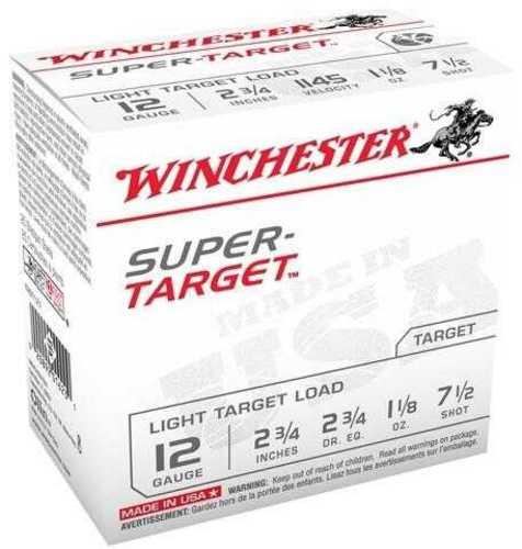 """Winchester Ammunition Super Target 12 Gauge 2-3/4"""" 1145 Fps. 1-1/8Oz. #7-1/2 Shot 25-Pack"""
