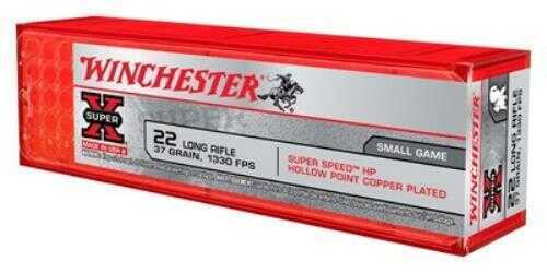 Winchester Ammunition Super Speed 22LR 37 Grain Plated Hollow Point 100 Round Box X22LRHSS1