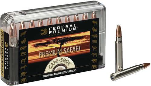 Federal Cartridge 370 Sako Mag 286 Grains Swift A-Frame Cape Shok Ammunition P370SA