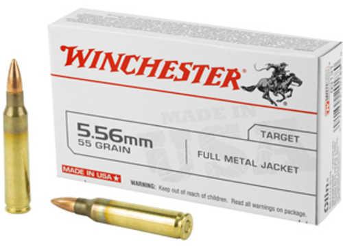 Winchester Ammunition USA 5.56 NATO 55 Grain Full Metal Jacket 20 Round Box Q3131