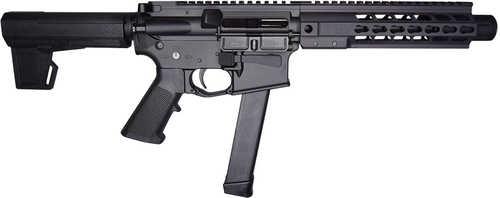 "Brigade Manufacturing BM-9 AR-15 Semi Automatic Pistol With Brace 9mm Luger 9"" Barrel 33 Round Black Graphite"