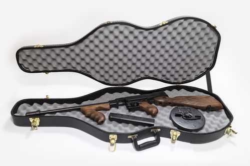 "Auto-Ordnance Thompson 1927A-1 Deluxe Semi Auto Carbine .45 ACP 16.5"" Finned Barrel 50 Round Drum/20 Round Stick Magazine Walnut Stock/Grip Blued Finish"