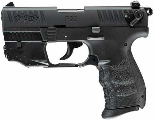 "Walther P22Q Pistol Laser Set 22 Long Rifle 10 Round 3.42"" Threaded Barrel Black Finish"