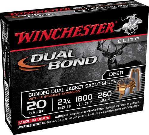 """Winchester Ammunition Supreme Elite 20 Gauge 2-3/4"""" Dual Bond 5 Round Box SSDB20"""