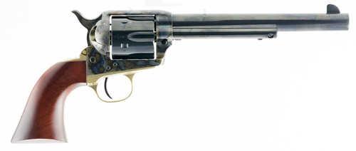 """Taylors 455 1873 Ranch Hand Revolver 45 Colt (LC) 7.5"""" Blued Barrel 6 Shot Walnut Grip Case Hardened Frame"""