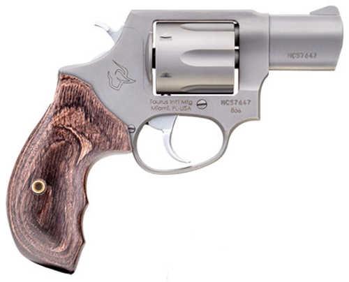 """Taurus 856 Revolver 38 Special + P 6 Round 2"""" Barrel Stainless Steel Finish Walnut Grip"""