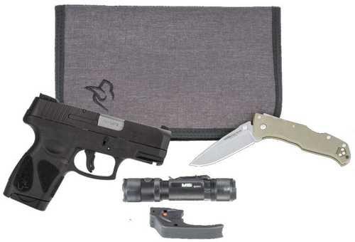 """Taurus G2S Pistol Carry Pack 9mm Luger 3.26"""" Barrel 7+1 Rounds Black Slide Black Polymer Grip"""