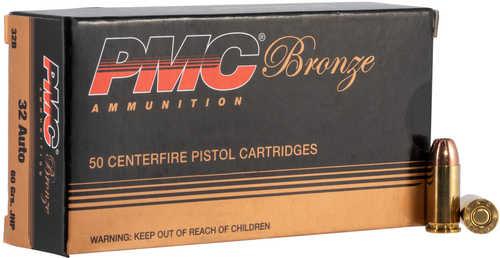 PMC Ammunition Bronze 32 ACP 60 Grains JHP 50 Rounds Ammunition 32B