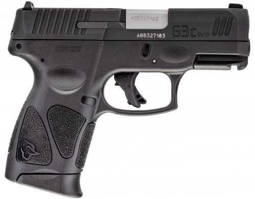 "Taurus G3 Compact Pistol 9mm Luger 3.26"" Barrel 12+1 Rounds Matte Black Finish G3c"