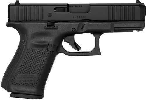 "Glock 19 Gen5 Pistol 9mm 4.02"" Barrel Fixed Sights 15 Round Front Serrations"
